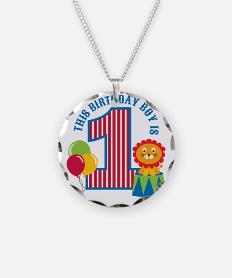 Circus1stBirthday Necklace Circle Charm