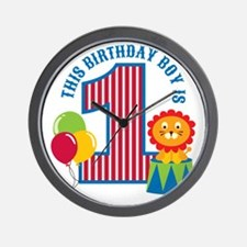 Circus1stBirthday Wall Clock