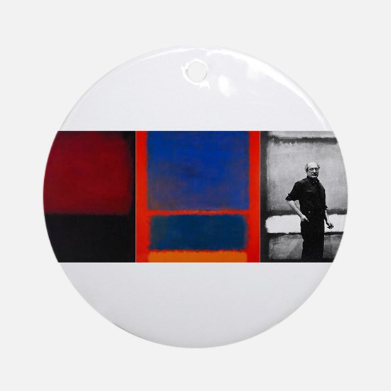 ROTHKO 2 PAINTS AND SELF Round Ornament