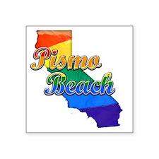 """Pismo Beach Square Sticker 3"""" x 3"""""""