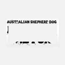 Australian Shepherd Dog License Plate Holder