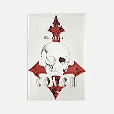000 skull logo 69MASTERxFINAL BLK Rectangle Magnet