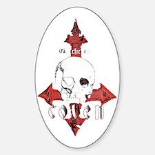 000 skull logo 69MASTERxFINAL BLK E Decal