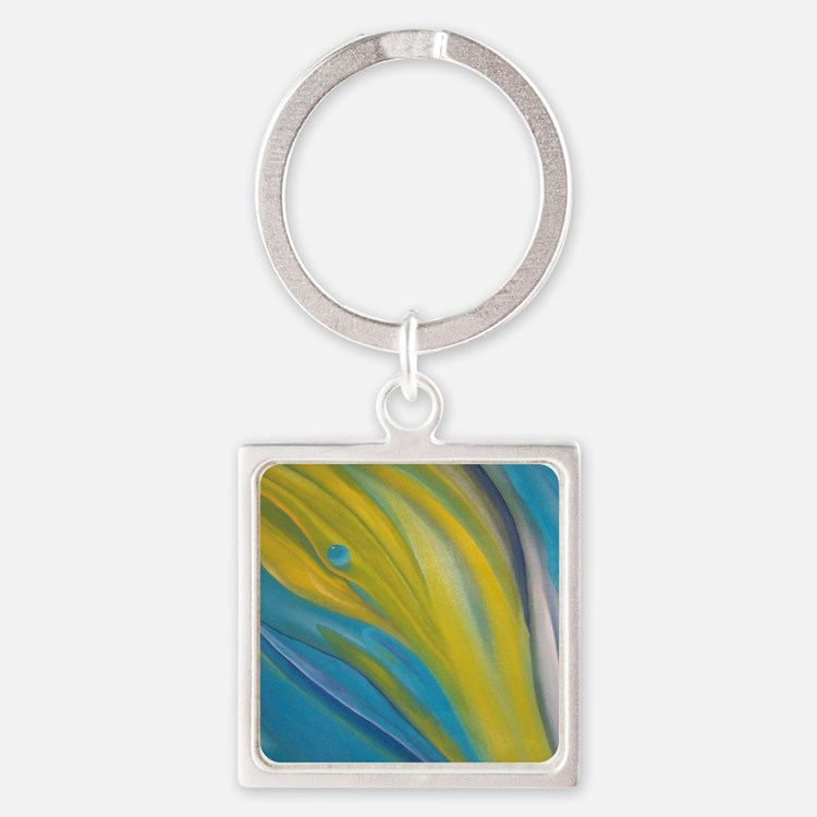 Leaf Cell Square Keychain