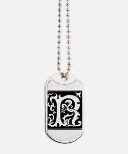 R-R letter Mister Right love Dog Tags