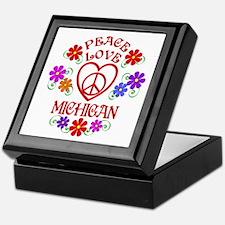 Peace Love Michigan Keepsake Box