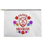 Peace love michigan Makeup Bags