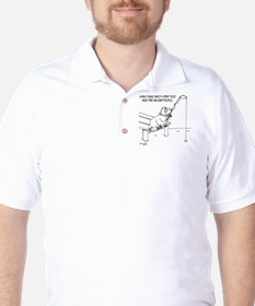 4177_fishing_cartoon Golf Shirt
