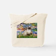Lilies & Himalayan cat Tote Bag