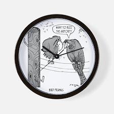 2050_bird_cartoon Wall Clock