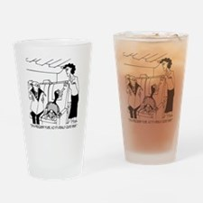 3074_frequent_flyer_cartoon Drinking Glass
