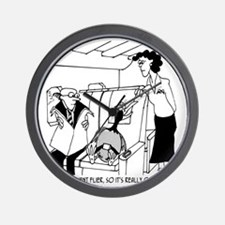3074_frequent_flyer_cartoon Wall Clock