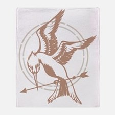 Mockingjay Art Throw Blanket