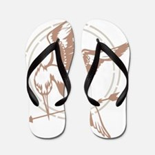 Mockingjay Art Flip Flops