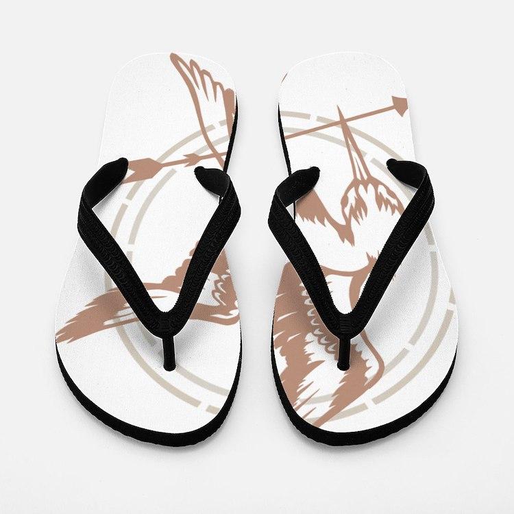 Mockingjay Art Flip Flops
