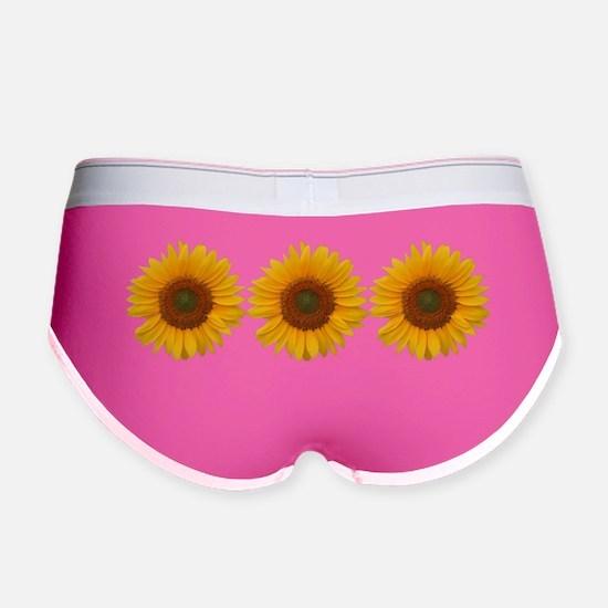 SunflowerBumpersticker Women's Boy Brief