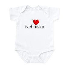 """I Love Nebraska"" Infant Bodysuit"