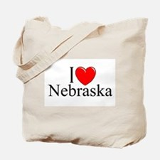 """I Love Nebraska"" Tote Bag"