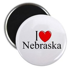 """I Love Nebraska"" Magnet"