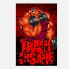 TRAININSANE_portrait Postcards (Package of 8)