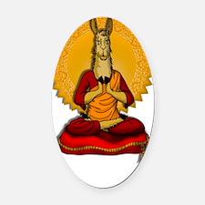 Dalai-LLAMA Oval Car Magnet