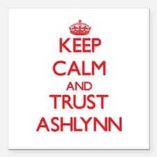 "Keep Calm and TRUST Ashlynn Square Car Magnet 3"" x"