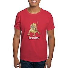 Bearded Dragon Got Crickets red T-Shirt