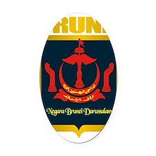 Brunei Gold Oval Car Magnet
