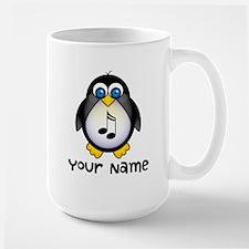 Personalized Music Penguin Mugs