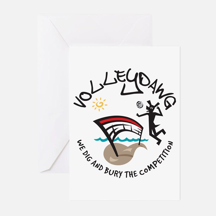 Volleydawg Greeting Cards (Pk of 10)