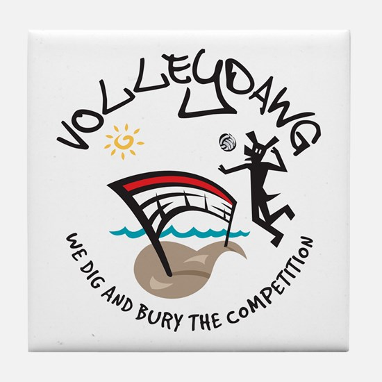 Volleydawg Tile Coaster