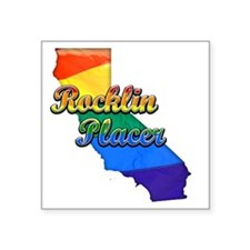 "Rocklin Placer Square Sticker 3"" x 3"""