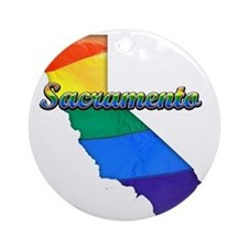 Sacramento Round Ornament