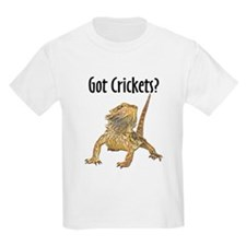 Bearded Dragon Got Crickets Kids T-Shirt