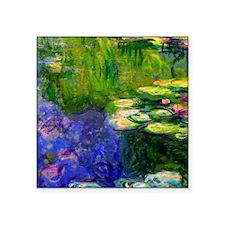 "iPadS Monet WL19 Square Sticker 3"" x 3"""