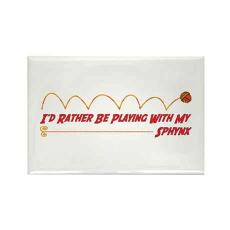 Playing Sphynx Rectangle Magnet (100 pack)