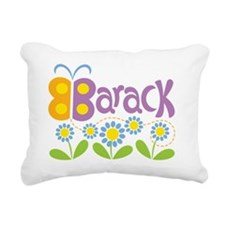 ButterflyBarackPurple Rectangular Canvas Pillow