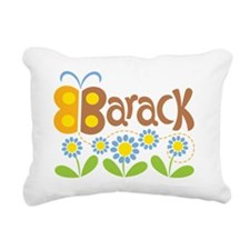 ButterflyBarackBrown Rectangular Canvas Pillow