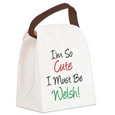 So Cute Must Be Welsh Canvas Lunch Bag