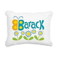 ButterflyBarackTeal Rectangular Canvas Pillow