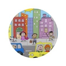 """kidny puzzle 3.5"""" Button"""