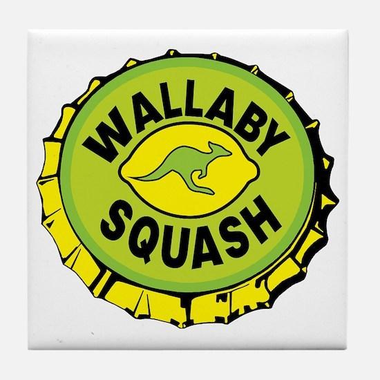 WALLYBY SQUASH cap Tile Coaster