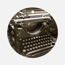 Typewriter Round Ornament