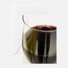 Wine Glass Greeting Card