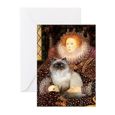 Queen & Himalayan cat Greeting Cards (Pk of 10)