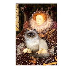 Queen & Himalayan cat Postcards (Package of 8)