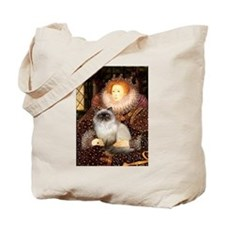 Queen & Himalayan cat Tote Bag