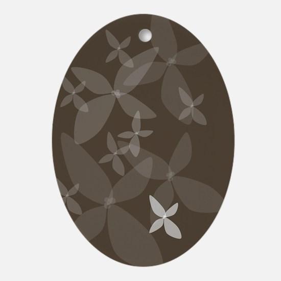 Flower Art (bark) Oval Ornament