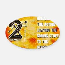BringActionLogo Oval Car Magnet