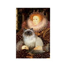 Queen & Himalayan cat Rectangle Magnet (10 pack)